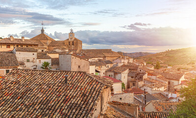 Spanish village rooftops