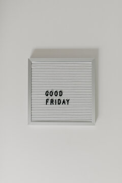 Whiteboard Words That Spell Good Friday