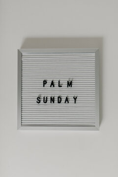 Whiteboard Words That Spell Palm Sunday