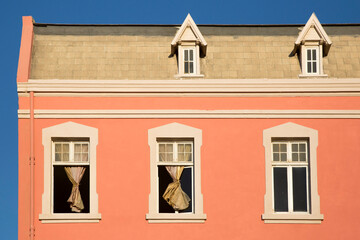 Pink Building, Blue Sky