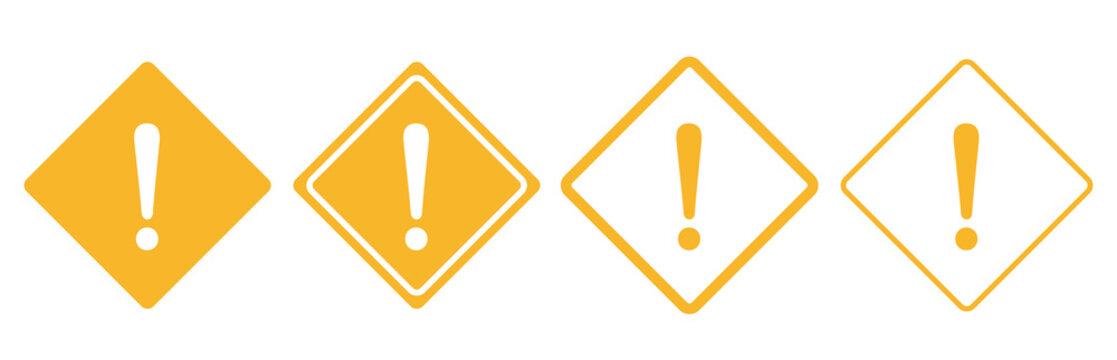 warning sign icon set vector