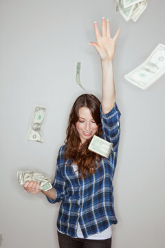 Portraits: Wealthy Hipster Throws Cash In Air