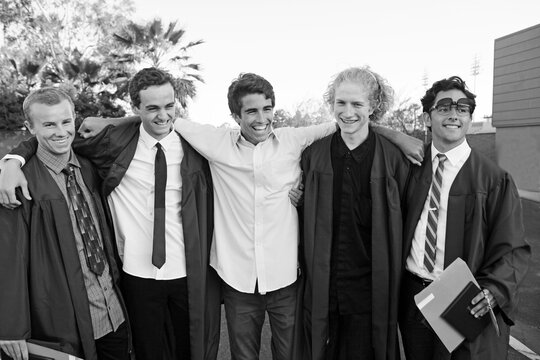 Handsome Group Of Highschool Grads