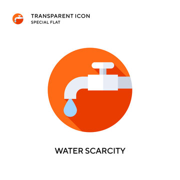 Water scarcity vector icon. Flat style illustration. EPS 10 vector.