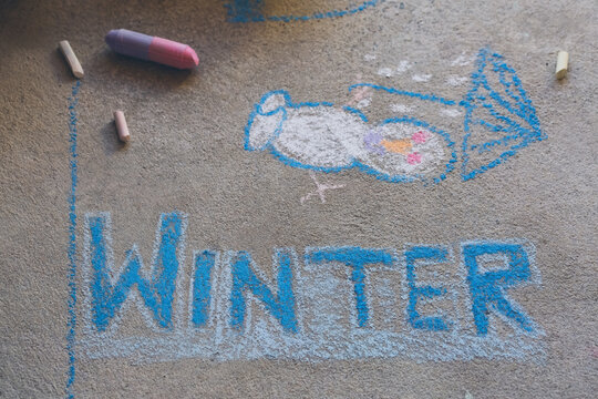"""Chalk drawing of the word """"""""WINTER"""""""""""