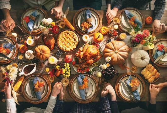 Thanksgiving celebration traditional dinner concept