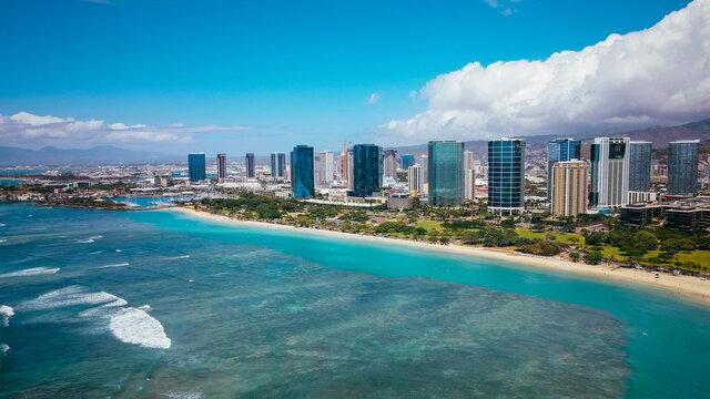 ALA MOANA BEACH PARK HONOLULU OAHU HAWAII