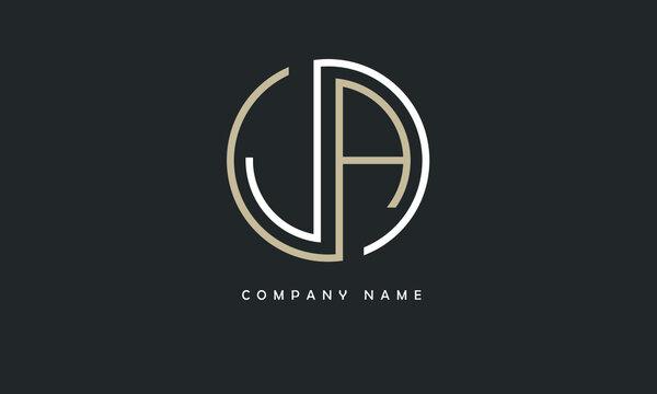 JA, AJ, J, A Abstract Letters Logo Monogram