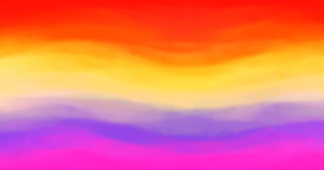 Purple violet red yellow color background. Oil painting on canvas. Brushstrokes of paint. Rainbow colors. Brush strokes blurred or bright texture. Vector pastel soft aquarelle sign. Watercolor print.