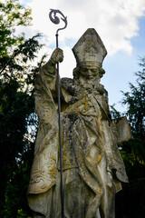 Stone statue of Cyril or Methodius.