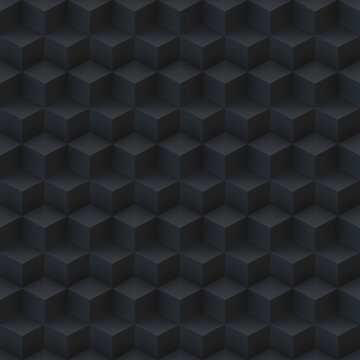 Futuristic cubic 3D seamless pattern. Ideal as a background for technology advertisements. 3D rendering