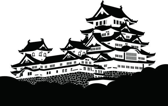 姫路城・天守・シルエット