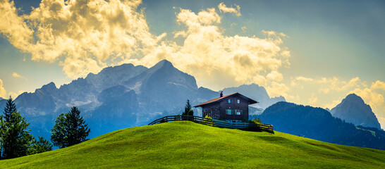 Wall Mural - landscape at the wetterstein mountains - bavaria