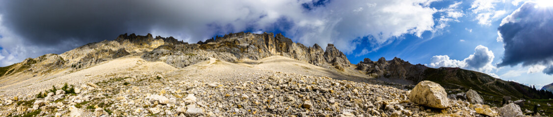 mountains of the Latemar in Italy near Bozen