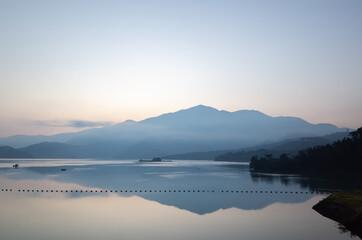morning scenery of Sun Moon Lake