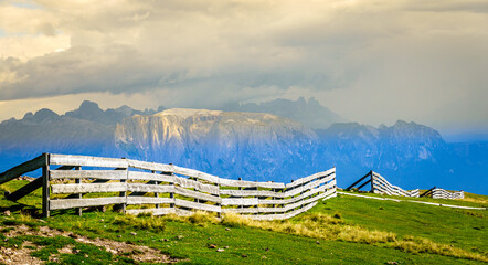 view at the rittner horn in italy - near bozen