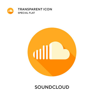 Soundcloud vector icon. Flat style illustration. EPS 10 vector.