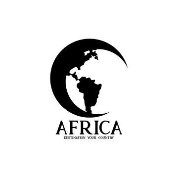 illustration africa geography. destination of africa logo vector