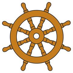 Schiff Steuerrad