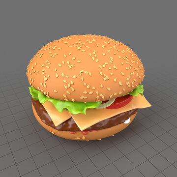 Stylized cheeseburger