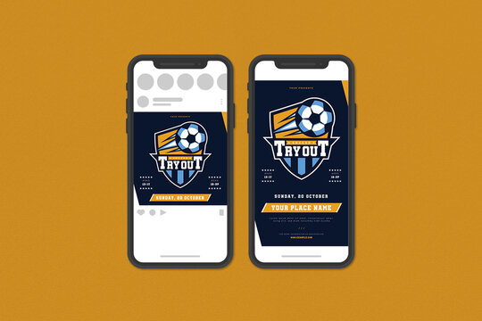 Soccer Tryout Social Media Template