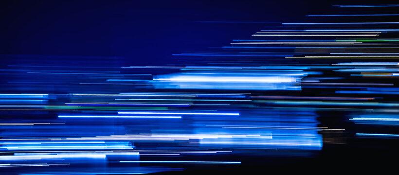 blue light trails timeline cover