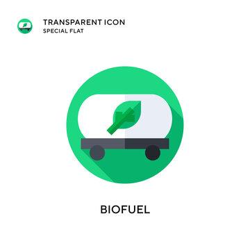 Biofuel vector icon. Flat style illustration. EPS 10 vector.