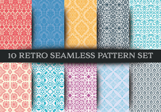 Set of 10 Seamless Patterns