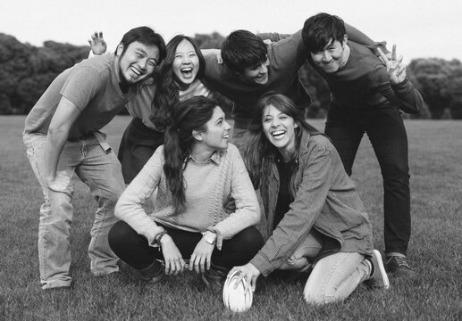 Picture of Group of Teenage Friends . Multicultural Concept