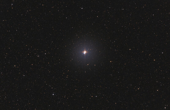Closeup of the double star β Cygni or also known as Albireo in Cygnus constellation, taken with my telescope.