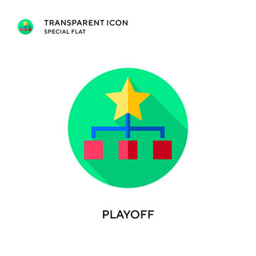 Playoff vector icon. Flat style illustration. EPS 10 vector.