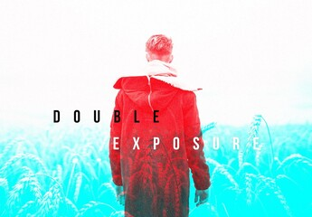 Duo Tone Double Exposure Photo Effect