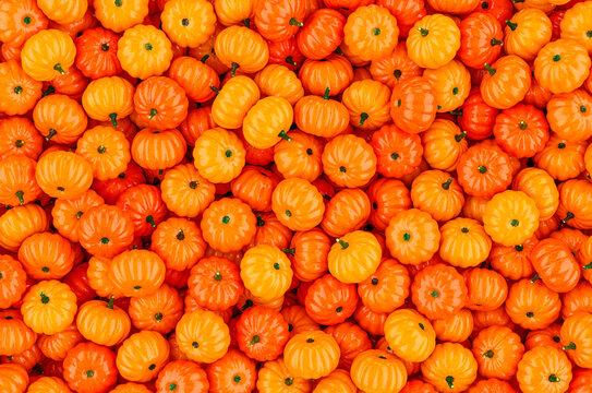 Background from orange pumpkins, 3D rendering