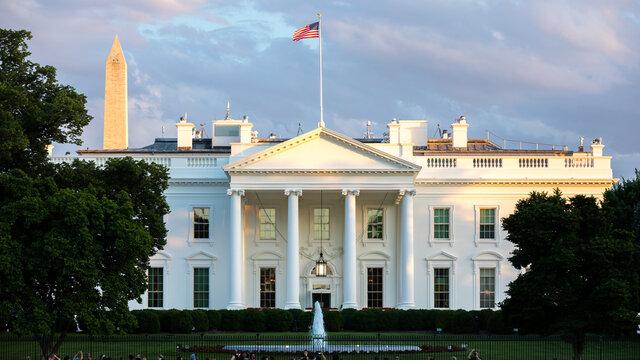 The White House in Washington DC Sunset