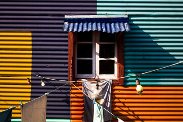 typical architecture in La Boca, Buenos Aires
