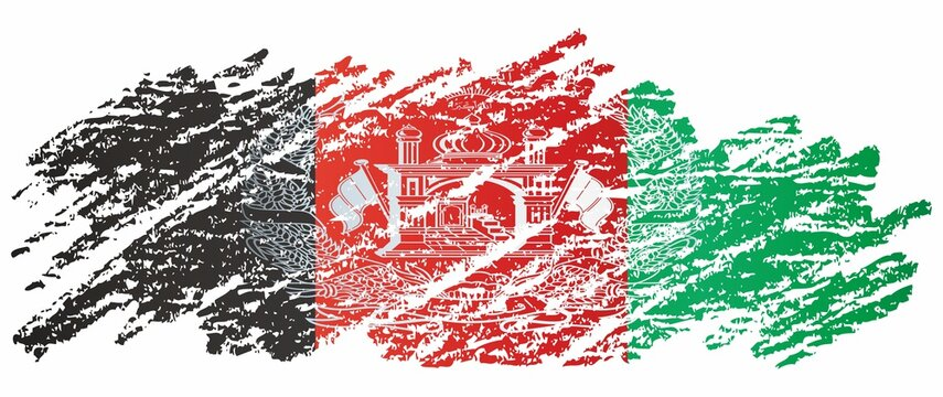 Flag of Afghanistan, Islamic Republic of Afghanistan. Bright, colorful vector illustration