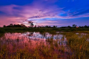 twilight beautiful landscape
