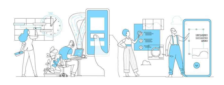 Workflow del team dell'agenzia digitale