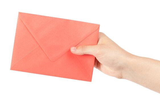 Envelope in hand