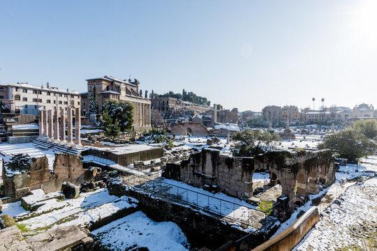 Rome Snow 2 Fori Romani