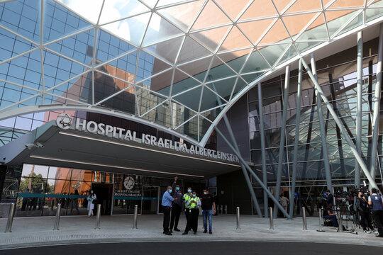 A general view of Albert Einstein Hospital, where Brazil's President Jair Bolsonaro will undergo surgery in Sao Paulo