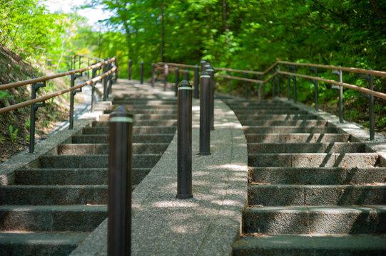 公園の階段