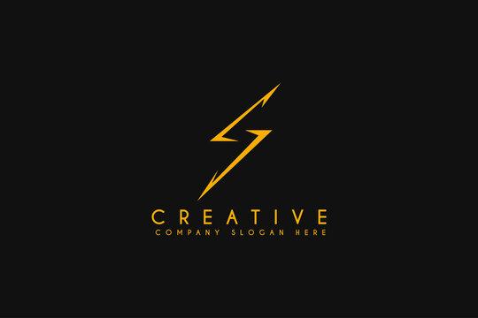 Initial S energy logo design element, Vector Initial Letter Branding Logo