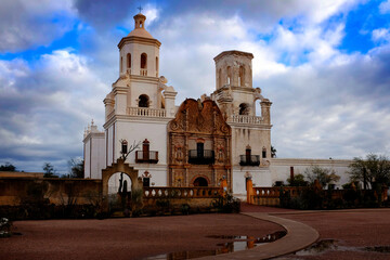 San Xavier Mission in Tucson Arizona Spanish Religioius