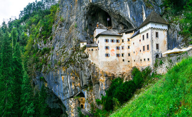 Mystrerious medieval castles of Europe - Predjama castle in Slovenia
