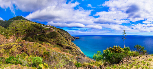 La Palma island. nature landscape scenery. Canary islands of Spain