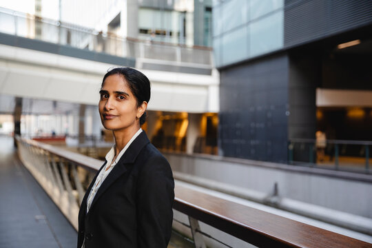 Portrait of Indian business woman looking at the camera