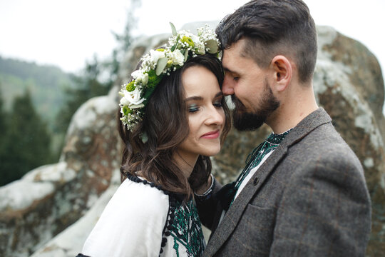 Photo of lovely romantic newlywed.