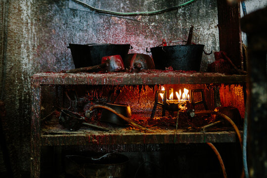 Wax stove at a foundry