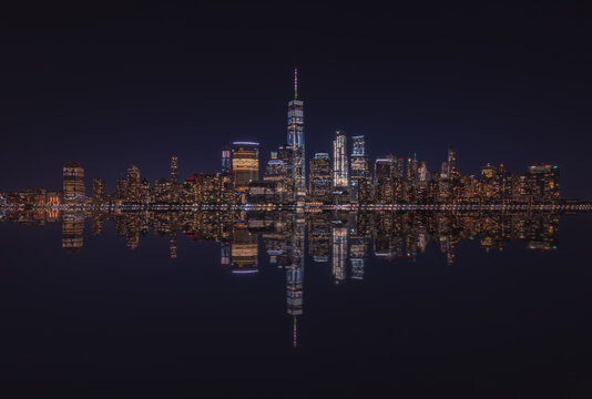 A View Of The New York City Skyline from New Jersey